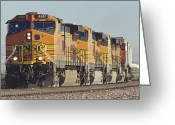 Freight Greeting Cards - BNSF Freight Train Greeting Card by Richard R Hansen and Photo Researchers