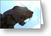 Clear Sky Images Greeting Cards - BOA Stadium Panther Greeting Card by Clear Sky Images
