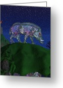 Boar Greeting Cards - Boar King Greeting Card by Ian Anderson