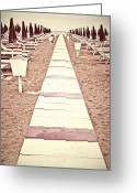 Melancholic Greeting Cards - Boardwalk Greeting Card by Joana Kruse