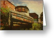 Rotted Greeting Cards - Boat at Apalachicola Greeting Card by Toni Hopper