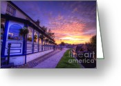 Sunset Framed Prints Greeting Cards - Boat Inn Sunrise 2.0 Greeting Card by Yhun Suarez