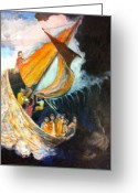 Storm Sculpture Greeting Cards - Boat Greeting Card by Matthew Orlando