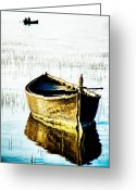 Fine_art Greeting Cards - Boat Greeting Card by Okan YILMAZ
