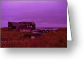 Shed Digital Art Greeting Cards - Boat Shed Blues Greeting Card by Stuart Parnell