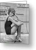 Fashion Model Photography Greeting Cards - Boat Show Fashion Greeting Card by Fox Photos