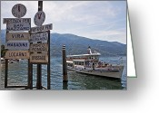 Vacation Destination Greeting Cards - Boat trip on Lake Maggiore Greeting Card by Joana Kruse