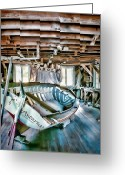 Harold Greeting Cards - Boathouse Greeting Card by Heather Applegate