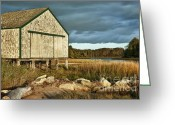 Sheds Greeting Cards - Boathouse Greeting Card by John Greim