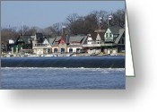 Boathouse Row Philadelphia Greeting Cards - Boathouse Row - Philadelphia Greeting Card by Brendan Reals