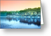 "\""boathouse Row\\\"" Greeting Cards - Boathouse Row Greeting Card by Bill Cannon"