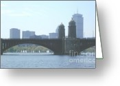 The City Greeting Cards - Boating on the Charles Greeting Card by Laura Lee Zanghetti