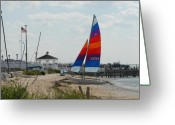 Long Beach Island Photos Greeting Cards - Boats 61 Greeting Card by Joyce StJames