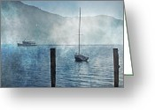 Mysterious Greeting Cards - Boats In The Fog Greeting Card by Joana Kruse