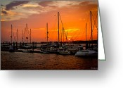 Bonnes Eyes Fine Art Photography Greeting Cards - Boats on the River Greeting Card by Bonnes Eyes Fine Art Photography