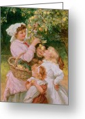 Food And Beverage Painting Greeting Cards - Bob Apple Greeting Card by Frederick Morgan