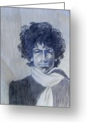 Singer Songwriter Greeting Cards - Bob Dylan in the Rock Years Greeting Card by Judith Redman
