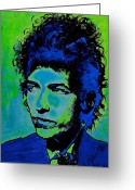 Duluth Greeting Cards - Bob Dylan Greeting Card by Shirl Theis