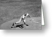 Cardinals World Series Greeting Cards - Bob Gibson (1935- ) Greeting Card by Granger