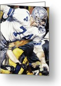Football Painting Greeting Cards - Bob Lilly Greeting Card by Rich Marks