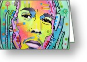 Reggae Greeting Cards - Bob Marley I Greeting Card by Dean Russo