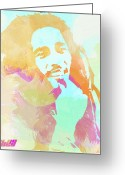 Cry Greeting Cards - Bob Marley Greeting Card by Irina  March