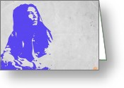 Reggae Greeting Cards - Bob Marley Purple Greeting Card by Irina  March