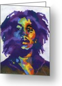 Reggae Greeting Cards - Bob Marley Greeting Card by Stephen Anderson