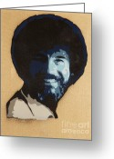 Tom Evans Greeting Cards - Bob Ross Greeting Card by Tom Evans