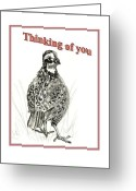 Carol Allen Anfinsen Greeting Cards - Bob White  Greeting Card by Carol Allen Anfinsen