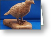 Still Life Sculpture Greeting Cards - Bob White Quail Greeting Card by Russell Ellingsworth