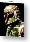 Figure Greeting Cards - Boba Fett Greeting Card by Paul Ward