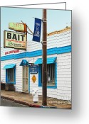 Sacramento River Greeting Cards - Bobs Bait Shop in Isleton California . The Master Baiter Greeting Card by Wingsdomain Art and Photography