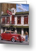 Urban Painting Greeting Cards - Bobs Chili Parlor Greeting Card by Craig Shillam