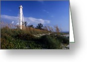 Lighthouse Home Decor Greeting Cards - Boca Grande Light Greeting Card by Skip Willits