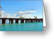 Boca Grande Prints Greeting Cards - Boca Grande Once Upon a Railway  Greeting Card by Carmen Del Valle