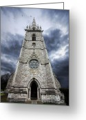 Gargoyle Greeting Cards - Bodelwyddan Church Greeting Card by Meirion Matthias