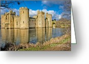 Chivalry Greeting Cards - Bodiam Castle Greeting Card by Donald Davis