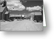 White Clouds Greeting Cards - Bodie A Ghost Town Infrared  Greeting Card by Christine Till