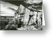 Ghost Photographs Greeting Cards - Bodie Barn Greeting Card by Norman  Andrus
