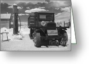 Antique Cars Greeting Cards - Bodie California - A Trip Back In Time Greeting Card by Christine Till