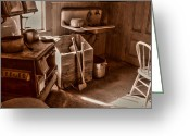 Ghost Town Greeting Cards - Bodie California Ghost Town Kitchen Greeting Card by Scott McGuire