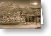 Gold Rush Greeting Cards - Bodie California Ghost Town Greeting Card by Scott McGuire