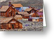 Structures Greeting Cards - Bodie Ghost Town California Greeting Card by Garry Gay