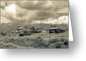 Ghost Town Greeting Cards - Bodie Ghost Town California Gold Mine Greeting Card by Scott McGuire