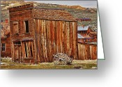 Ghost Town Greeting Cards - Bodie Ghost Town Greeting Card by Garry Gay