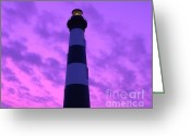 Al Powell Photography Greeting Cards - Bodie Island Light Sunset Greeting Card by Al Powell Photography USA