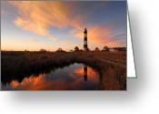 Hatteras Greeting Cards - Bodie Island Lighthouse OBX Greeting Card by Mark VanDyke