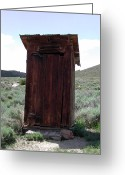 Old Out Houses Greeting Cards - Bodie Outhouse 1 Greeting Card by Lydia Warner Miller