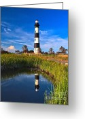 Hatteras Greeting Cards - Bodie Reflection Greeting Card by Nick Zelinsky